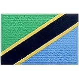 Tansania Flagge National Bestickter Aufnäher zum Aufbügeln/Annähen