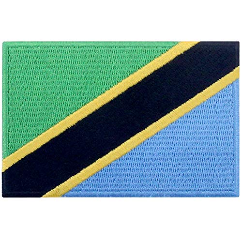 Tanzania Vlag Patch Geborduurde Applique Tanzaniaanse Iron Op Naai Op Nationaal Embleem