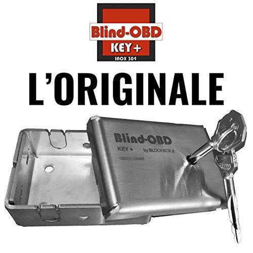 Blind OBD keyplus–blindatura para toma de datos OBD by Blockbox–Protección Diagnóstico Coche–Acero Inoxidable 304–Llave cifrata–Block Box Antirrobo