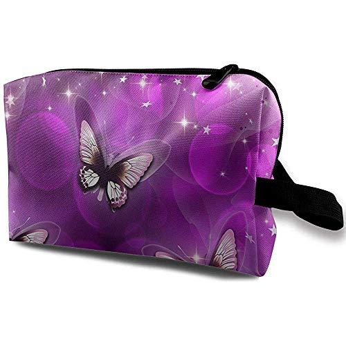 Voyage Cosmétique Sac Portable Sac À Main Beau Papillon Trousse De Toilette Petit Maquillage Sacs Cas Organisateur