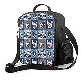 Delerain - Bolsa de almuerzo para perros, con asa y correa para el hombro, bolsa para aperitivos para niños, niñas, niños, preescolar, oficina, picnic