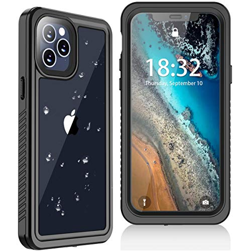 Oterkin Compatible with iPhone 12 Case for iPhone 12 Pro Case, Waterproof Case Built in Screen Protector Full Body Shockproof IP68 Waterproof Case for iPhone 12/Pro(6.1inch)