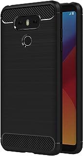 AICEK Funda LG G6, Negro Silicona Fundas para LG G6 Carcasa LG G6 Fibra de Carbono Funda Case (5,7 Pulgadas)