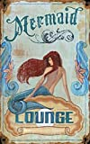 Red Wood Mermaid Lounge Sign Size 20x32