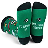 Lavley - I'd Rather Be Watching Soccer - Funny Socks For Men and Women