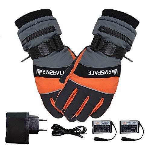 Outdoor-Anti-Kälte-Produkte Winter Ski USB aufladbare Beheizbare Handschuhe Fäustlinge Warm Snowmobile Snowboard Ski-Handschuhe
