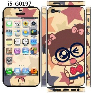 """Super Cute !!""""SMILE GIRL"""" Screen Protector For iPhone 5/5S/SE"""