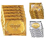 24k Gold Mask Set, 5 Packs Gold Bio-collagen Face Mask   5 Packs Gold Eye Mask  5 Packs Gold Lip Mask