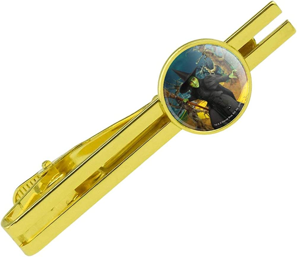 GRAPHICS & MORE Wizard of Oz Wicked Witch Character Round Tie Bar Clip Clasp Tack Gold Color Plated