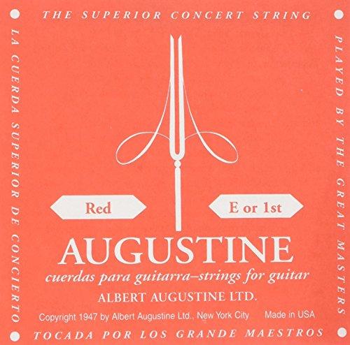 Augustine Cuerdas para Guitarra Clásica, Rojo, Mi1, Tensión Regular
