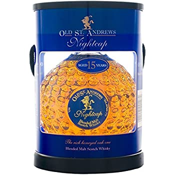 Old St. Andrews Nightcap 15 Year Blended Malt Scotch Whisky Tube Pack, 70 cl