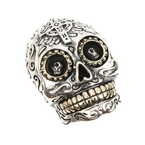 ジナブリング (JINA BRING) コンチョ Mexican Skullメキシカンスカル コンチョ シルバー925 財布 ボタン カスタム パーツ メンズ