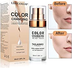 Liquid Foundation,Foundation Cream,Flawless Colour Changing Foundation,Hides Wrinkles & Lines,BB Cream,Covering Imperfections Liquid Complete Foundation Cover,Universal Shade for ALL Skin Makeup