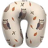 Schiuma di Memoria per guanciale a Forma di U a Forma di gufo, cuscino per cuscino da viaggio, traspirante, morbido e confortevole regolabile