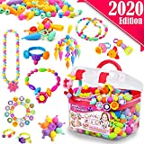 FunzBo Snap Pop Beads for Girls Toys - Kids Jewelry Making Kit Pop-Bead Art and Craft Kits DIY...