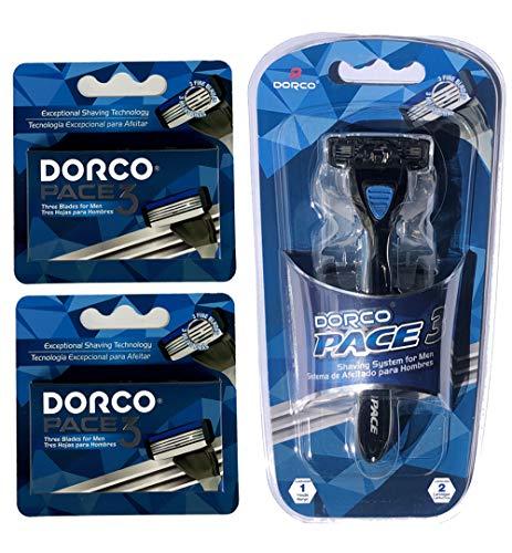 Dorco Pace 3 - Three Razor Blade Shaving System- Value Pack (10 Cartridges + 1...