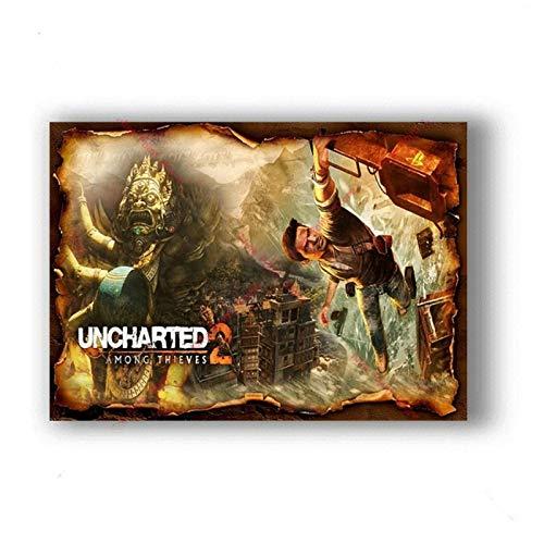 W15Y8 Videojuegos Uncharted Art Kids Room Pinturas En Lienzo Cafe Bar Decoración Para El Hogar Impresión En Lienzo-50X70Cm Sin Marco