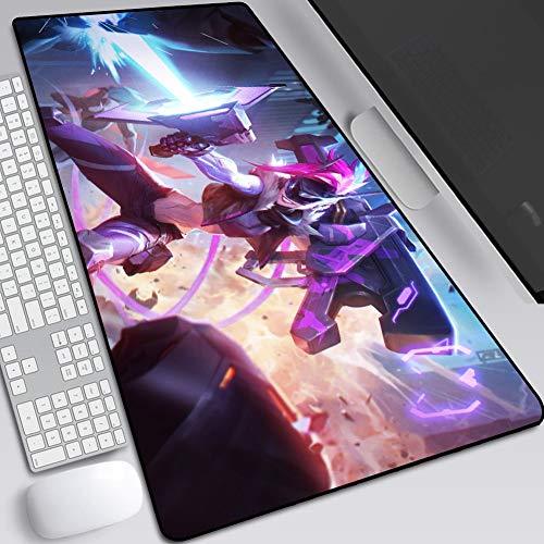 CSQHCZS-SBD Verdikte muismat, groot gaming-toetsenbord tafelkleed, natuurlijk rubber antislip en rand voor persoonlijke laptops, naaien en schrijftafels