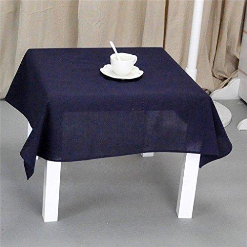 Nappe européenne Nappe Carrée en Tissu de Coton Solide Couleur Table de Cuisine Balcon Salon Nappe d'Hôtel (Couleur : D, taille : Square-130 * 130)