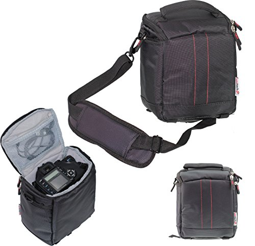 Navitech schwarz Camcorder/Kamera/Schultertasche/Tasche für Vivitar DVR-508 High Definition Digital Video Camcorder