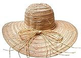 Damenhüte Schlapphut Hellbeige Kofferhut rollbar Urlaub Strand Sonnenschutz