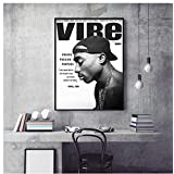 Tidyz Tupac Shakur Coast Hip Hop Tupac Celebrity Poster And Prints Canvas Painting On Wall Art Home Room Decoration(15.74X23.62 In)40X60 Cm No Frame