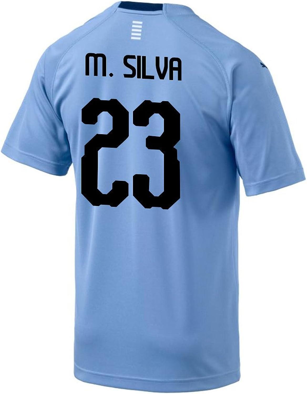 4d4513c71 Puma M. Silva Uruguay Home Men's Soccer Jersey World Cup Russia 2018 ...