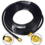 YILIANDUO SMA Macho a SMA Hembra Extensión de Cable de Baja pérdida de 10 Metros (32,8 pies) RG58 y Radio bidireccional Aplicaciones Cable de Cobre de Cobre Puro