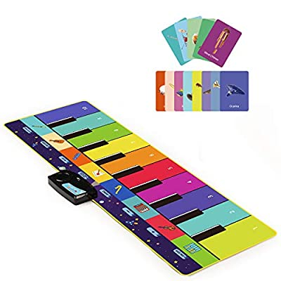 Joyjoz Kids Piano Mat, Musical Toys with 100 Plus Melodies, Floor Keyboard with Play, Record, Playback and Demo Modes with 8 Different Musical Instruments Sound Options (43.5 x 14.5 in) from Joyjoz