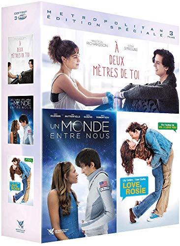 Coffret romance 3 films : à deux mètres de toi ; love, rosie ; un monde entre nous [FR Import]