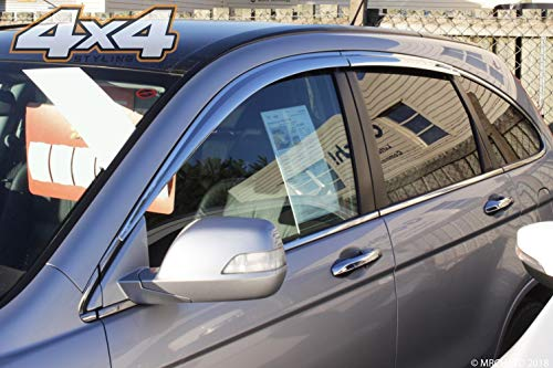 Autoclover Chrom-Windabweiser-Set für Honda CRV 2007-2012, 6-teilig