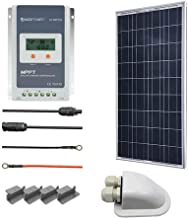 ACOPOWER 100 Watts Polycrystalline Panel Solar RV Kits with 20A MPPT LCD Charge Controller/Mounting Brackets/Solar Cables/Cable Entry housing
