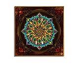 Patrón clásico de la mandala Arte abstracto Cartel e impresión Impresión Lienzo Pintura Decoración de la sala 50x50cm