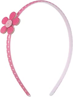 Lolita Baby Headband with Flower Shape, Fuchsia