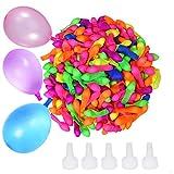Transino 500 Stück Wasserbomben Schnellfüller Wasserballons Selbstschließend Wasserbombe Klein for