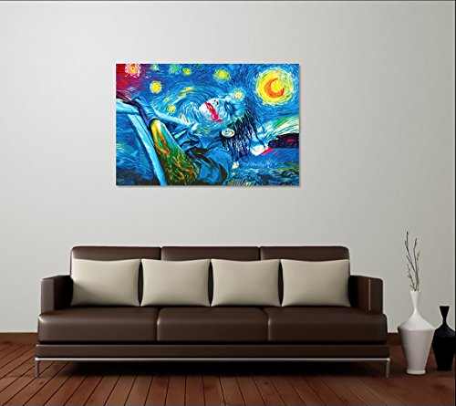 Best Print Store - Heath Ledger Inspired, The Starry Night Joker Poster (16x24 inches)