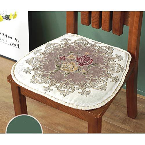 YANNI Jacquard eetkamerstoel kussen, caterpillar bloemenplant zitkussens tuin PP-katoenen mat voor volwassenen stoel stoel tuinstoel 44x38cm(17x15inch) P