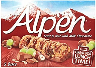 Alpen Fruit & Nut Bars with Milk Chocolate - 5 x 29g