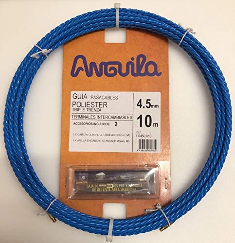 Guia Pasacables Triple Trenza 10 Metros 4.5 mm Azul