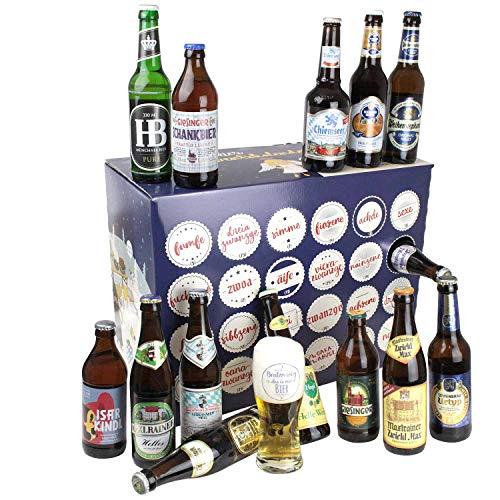 Bavariashop Bier Adventskalender mit Bayerischem Bier, Zünftiger Kalender Vorweihnachtszeit, 23 x 0,33 Liter, 5,6 % Alc