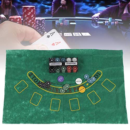 DAUERHAFT Juego de 2 Juegos de póquer, Juego de póquer, Juego de póquer, Juego de póquer, para Juegos en casa y al Aire Libre