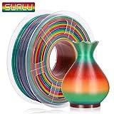 SUNLU PLA Multicolor Filamento 1.75mm, Impresora 3D PLA Rainbow Filamento 1kg Spool,...