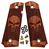 Dan Eagle 1911 Grips Full Size Exotic Solid Rosewood Fits Government and Commander Punisher Design