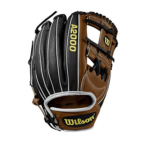Wilson A2000 11.75-Inch SuperSkin Baseball Glove, Saddle Tan/White/Black, Left (Right Hand Throw)