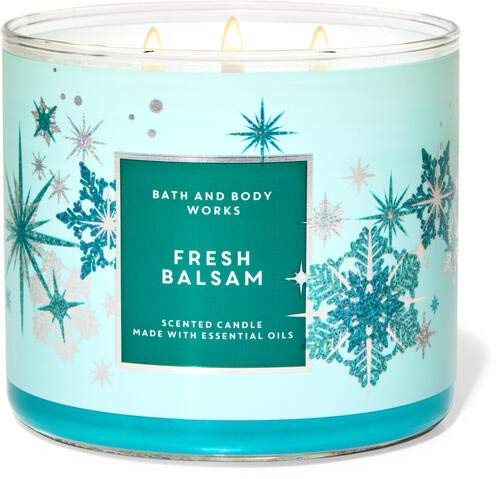White Barn Fresh Balsam 3-Wick Candle w/Essential Oils - 14.5 oz - 2020 Holidays Scents!