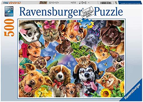 Ravensburger Puzzle 15042 - Unsere Lieblinge - 500 Teile Puzzle für Erwachsene und Kinder ab 10 Jahren, Tier-Puzzle mit Katzen und Hunden