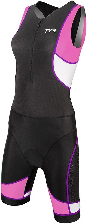 TYR 68TCFXP6AXS Women's Pad Front Zip Trisuit Black Purple XSmall