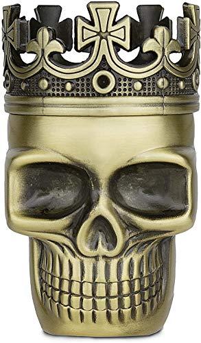 Golden Bell Spice Herb Grinder Full Metal Skull Grinder – Bronze