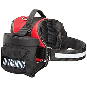Doggie Stylz in Training Service Dog Harness with Removable Saddle Bag Backpack Pack Carrier Traveling Carrying Bag. 2 Removable in Training Patches. Please Measure Dog Before Ordering. Made