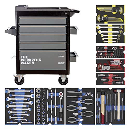 Werkstattwagen bestückt mit 9 Modulen | 5 Schubladen | No.143 | stabile Stahlblechkonstruktion | WGB